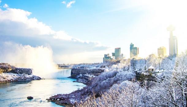 Niagara Falls in winter,Canada